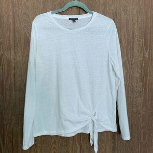White J. Crew Mercantile Long Sleeve Top Size XL